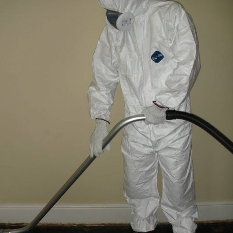 Asbestos vacuuming
