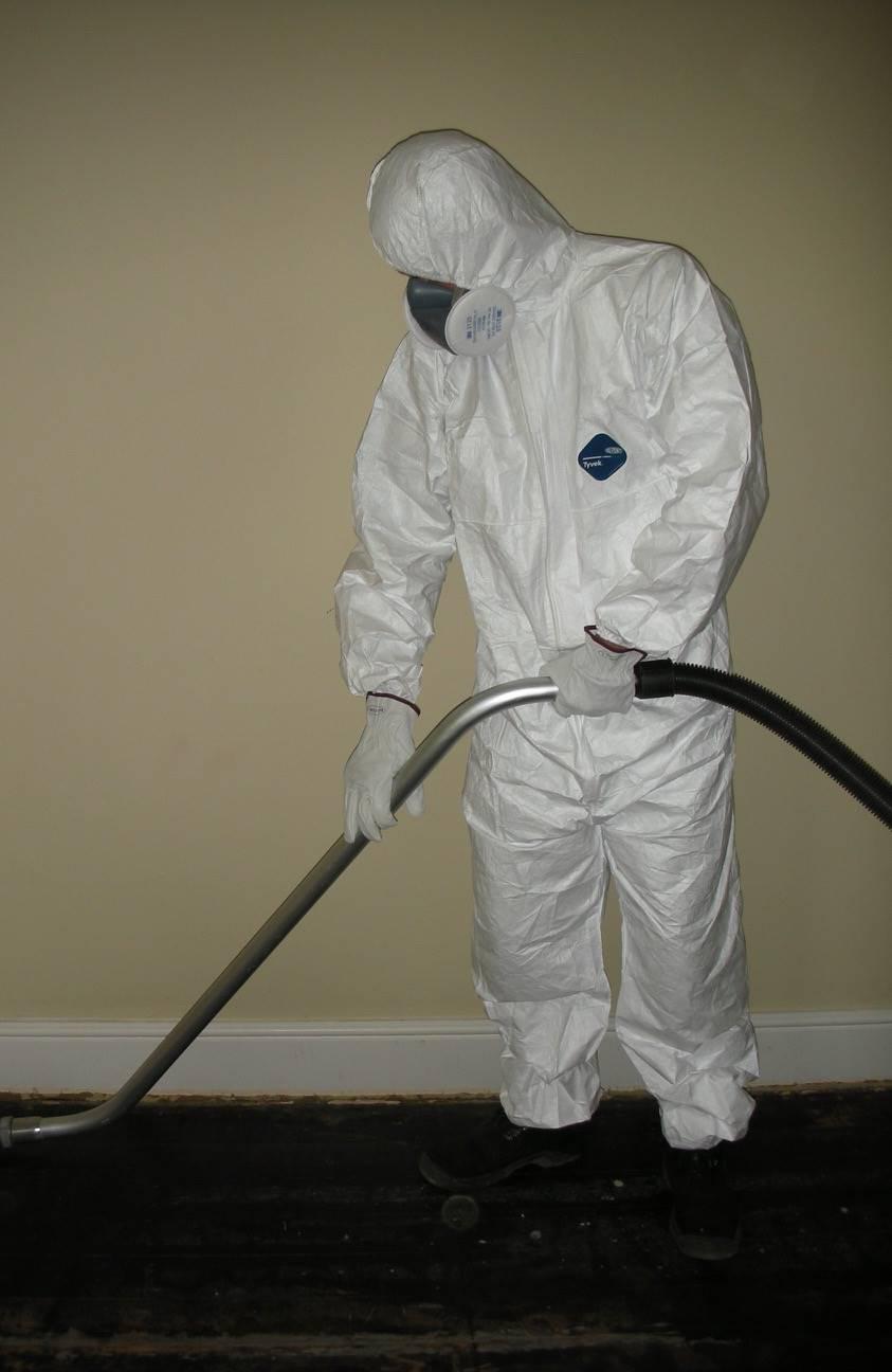 Asbestos vacuuming