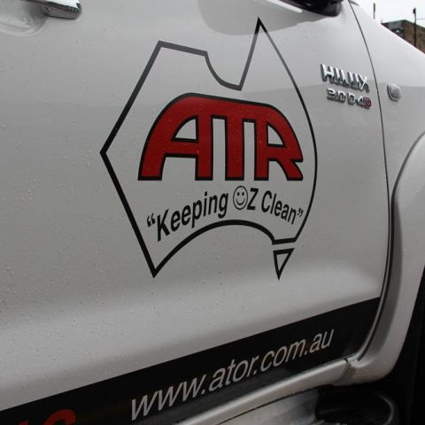 Logo on ute